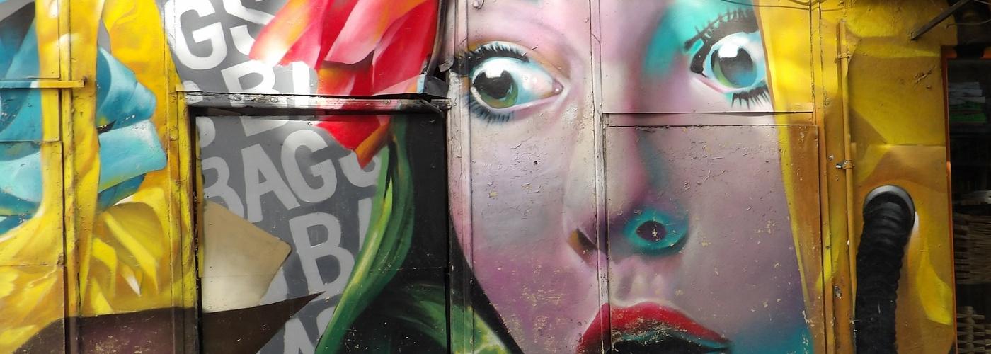 Graffiti Frau